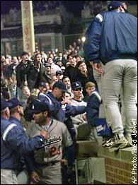 Dodgers, fans tangle